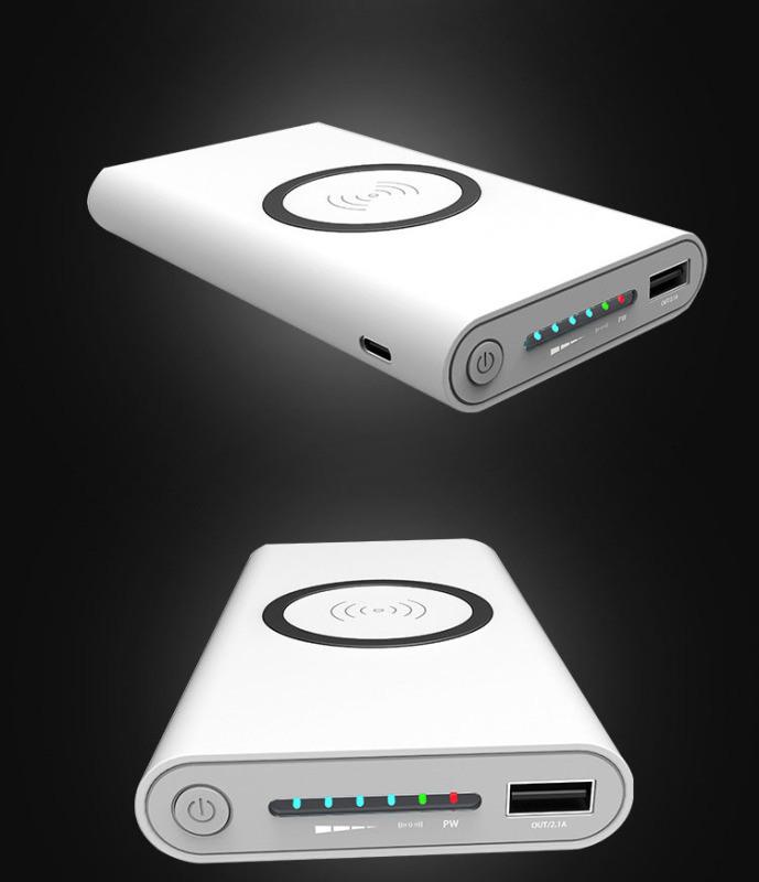 多功能移動電源無線充電寶12000mAh無線充電寶
