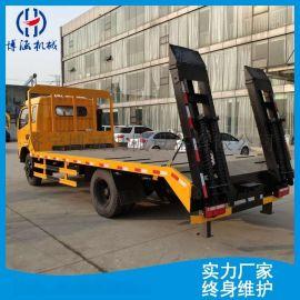 多功能挖掘机托板车 工程机械运输车平板半挂运输车