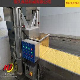 鸡柳上雪花片机 裹糠机 自动上屑机 上浆裹粉设备