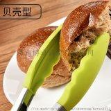 硅胶炒菜夹防烫耐高温食物夹 家用厨房夹子食品夹