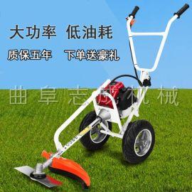 手推汽油四衝程割草機 背負式草坪修剪機