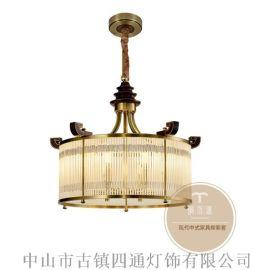 家居新中式吊燈-客廳新中式風格吊燈-銅木源招商