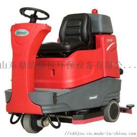 克力威XD80驾驶式洗地机工厂车间全自动洗地车