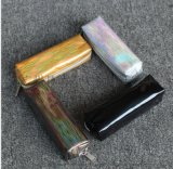 新款笔袋时尚长方形收纳笔袋PU变色眉笔包