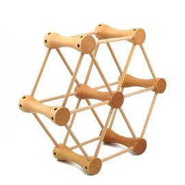 欧洲教育方法几何摩天轮木制益智早教玩具