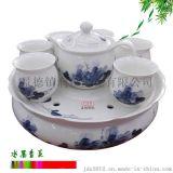 生產雙層隔熱陶瓷茶具 定做年會禮品茶具