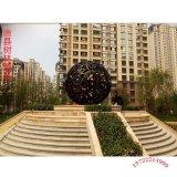 雕花镂空圆球定做园林景观球体铜雕塑摆件户外铸铜镂空球