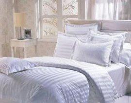 T/C 涤棉三分条酒店宾馆床单被套四套件