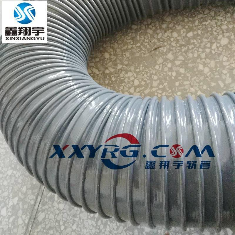 灰色PVC圓骨塑筋增強軟管/牛筋管/塑料軟管/通風吸塵排水管180