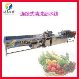 涡流果蔬清洗机 连续涡流洗菜机 葡萄清洗清洗沥水机