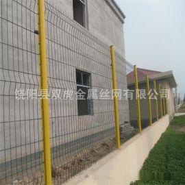 武汉三折弯护栏网 双边丝防护围网铁丝网围栏