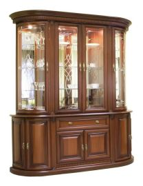 美式实木玻璃展示柜