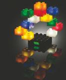 亮亮積木發光大顆粒積木兒童益智積木玩具12PCS