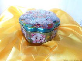 梅花形铁盒|满月喜蛋盒包装|结婚喜糖盒|创意|喜洋洋系列|