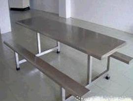 学校食堂餐桌椅-学生饭堂8人连体餐桌椅