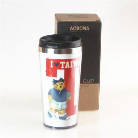 星巴克推盖式咖啡杯 礼品促销杯环保水杯 双层防烫杯子 办公水杯