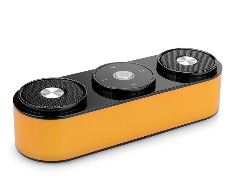 工厂直批 新款重低音 双喇叭 可插 卡通话 便携口袋蓝牙音响L-04
