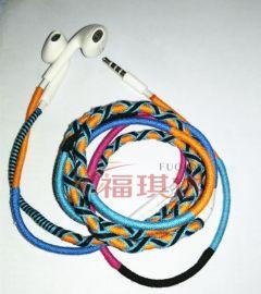 彩色编织耳机线编织绕线数据线