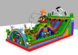 笨熊滑梯充气城堡充气蹦床大型儿童玩具