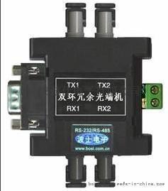 波士RS232/RS485转光纤串口双环冗余光端机OPT22