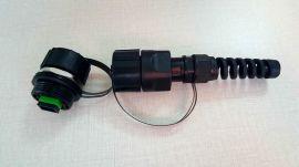 深圳毅宏光通信ODVA-SC防水野战光纤连接器SC防水连接头ODVA光纤防水连接头