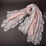 东莞羊毛蕾丝围巾OEM定制 东莞围巾厂家直供特色围巾