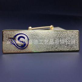 深圳厂家直销金属腐蚀磨砂工号牌定做铜蚀刻烤漆磁铁胸牌批发