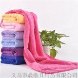 浴巾廠家直銷 超細纖維加厚大浴巾70*140 彩色浴巾禮品