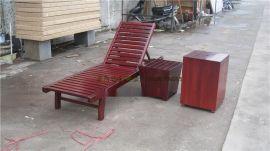 躺椅厂商 防腐木沙滩椅 园林沙滩躺椅,室外实木沙滩椅