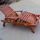 供应户外木制沙滩椅 游泳池躺椅 木质躺床