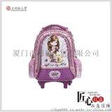 一件代发韩版儿童书包可爱女生拉杆书包芭比