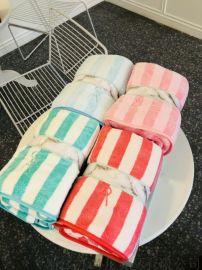 新品條紋蘇尚兒陽離子浴巾