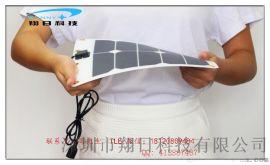 深圳厂家供应柔性单晶硅太阳能电池板组件5V10W户外登山骑行手机充电宝USB风扇供电