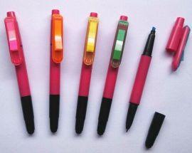 供应4合1荧光笔 带便签纸触屏四合一圆珠笔