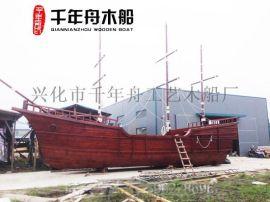 供應河南山東南京裝飾海盜主題木質帆船