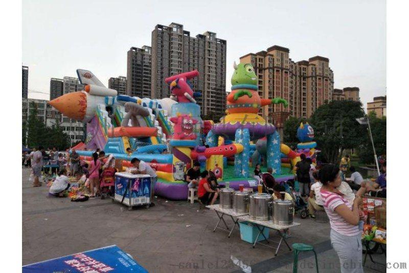 鄭州三樂玩具陸地衝關項目充氣滑梯生意評估