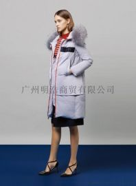 高端羽絨服品牌女裝尾貨折扣批發就到廣州明浩