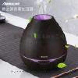中山泰坦 木纹香薰机 静音家用加湿器300ML