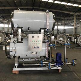 双层淋水式灭菌锅 食品厂用杀菌设备