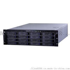 杰士安16盘位单电源存监控储转发一体机厂家直销