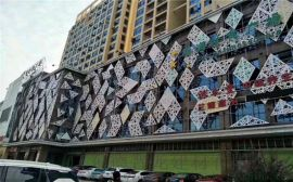 商场铝合金拉网-冲孔网板-外墙圆孔造型铝单板