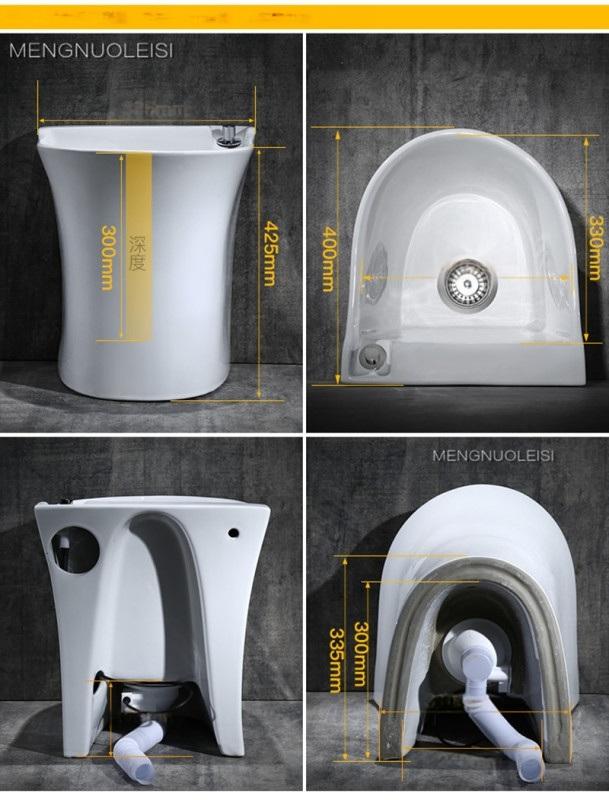 拖布盆蒙诺雷斯301A拖布池,陶瓷墩布盆