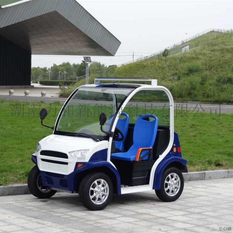 2座小型电动观光巡逻车