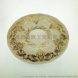 白底金色花紋玻璃盤 水果盤 點心盤 歐式牛排盤