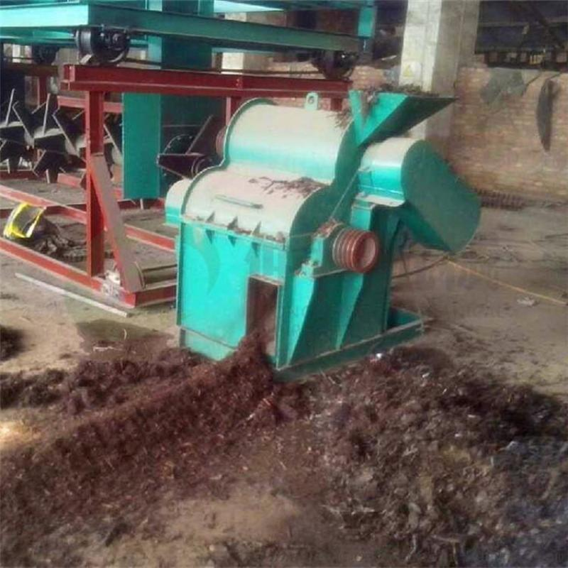 畜粪便生物发酵物料粉碎机 养殖场发酵鸡粪粉碎机 牛羊养殖场多用粉碎机