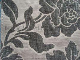仿黏胶雪尼尔沙发布 大提花加密加厚雪尼尔装饰面料
