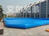 大型手工粘接PVC充气水池,游泳游乐钓鱼水池