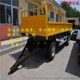 农业挂车 双轴四轮 滚珠转盘转向 可翻斗 拖车价格合理