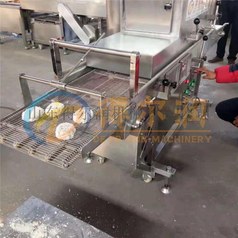 濟南{智慧}肉排裹糠機技巧 連續肉排裹麪包糠設備