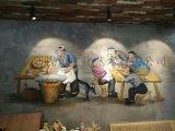 餐廳餐館牆上畫畫CG-1 串串店手繪牆畫